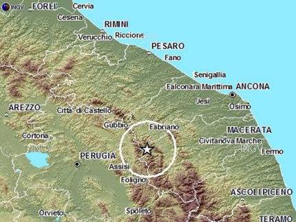Terremoto registrato sull'appennino maceratese