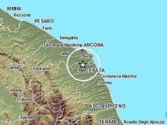 La mappa del terremoto tra Loreto e Recanati dell'8 febbraio 2015
