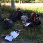 L'abbandono di rifiuti riscontrato in contrada Pianibianchi, a Tolentino