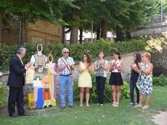 Inaugurazione dell'installazione a Penna San Giovanni