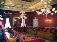 L'aula consiliare del Comune di Macerata: Il consiglio comunale