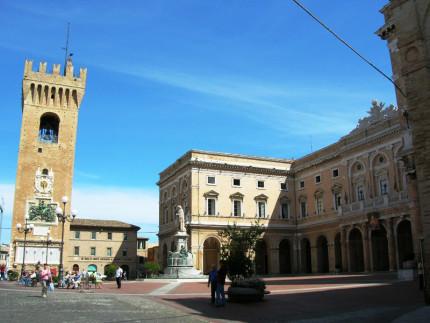 La piazza di Recanati