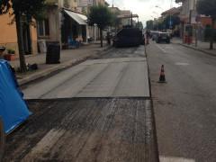lavori sulla strada provinciale a Sforzacosta di Macerata