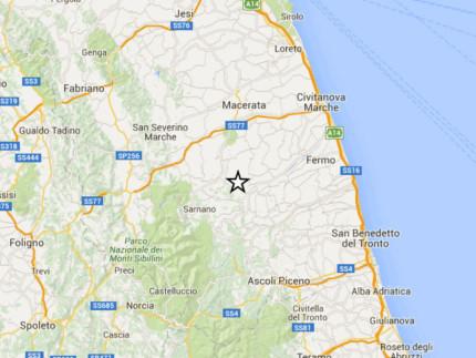 Terremoto registrato a Penna San Giovanni