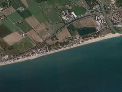 La zona sud di Porto Recanati, dal fiume Potenza verso Potenza Picena