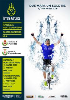 La locandina dell'edizione 2016 della corsa dei due mari, la Tirreno-Adriatica