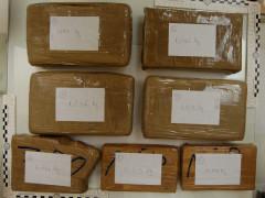 La droga sequestrata dalla Polizia a Civitanova Marche: oltre 6 kg di cocaina purissima