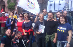 Attivisti M5S di Macerata e Corridonia hanno preso parte alla manifestazione di Roma contro il Ttip