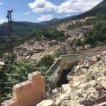 Il paese di Pescara del Tronto dopo il terremoto del 24 agosto 2016