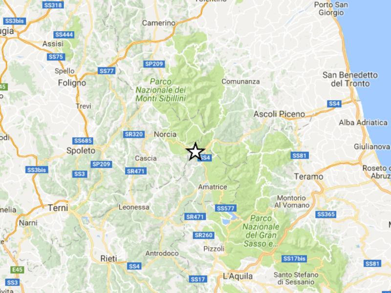 Terremoto 24 agosto 2016 tra Marche, Umbria e Lazio