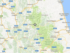 Epicentro scosse di terremoto del 22 settembre