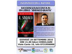 "Mauro Riccioni presenta ""Sindaco gratis"""