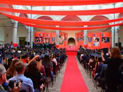 La festa dei laureati all'Università di Camerino per la consegna dei diplomi di laurea