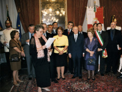 Barbara Pojaghi all'incontro con il presidente Ciampi