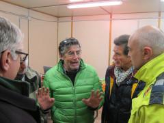 """L'incontro tra il sindaco di Visso, Giuliano Pazzaglini, il presidente del Parco Oliviero Olivieri ed altri funzionari dell'Ente """"Parco Nazionale dei Monti Sibillini"""""""