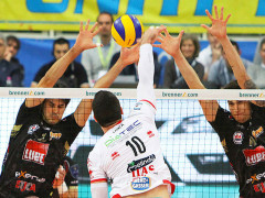 Il match tra Lube Volley e Trento