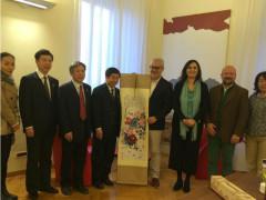 Romano Carancini e la delegazione cinese