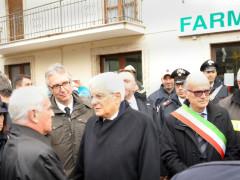 Sergio Mattarella ad Ussita dopo il terremoto del 30 ottobre 2016