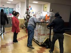 Consegna materiale scuola Tolentino