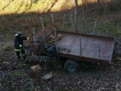 Incidente trattore a San Severino Marche