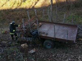Incidente trattore a San Severino Marche