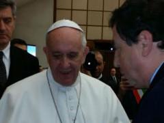 Il sindaco di Castelraimondo incontra Papa Francesco