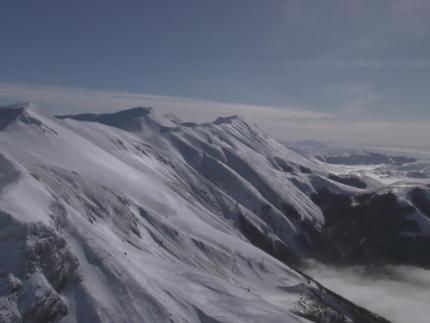 Monitoraggio situazione neve Monti Sibillini