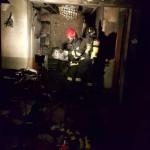 Incendio in uno studio commerciale