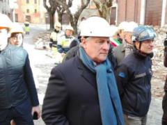 Antonio Tajani in visita a Camerino
