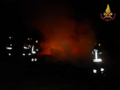 Incendio alla stazione di servizio