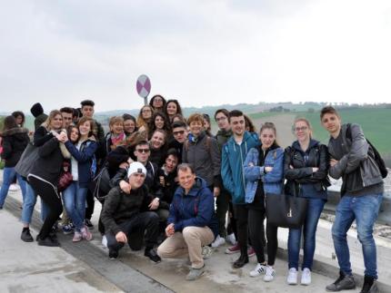 Iragazzi dell'Istituto di Istruzione Superiore Matteo Ricci