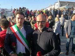 Stefano Berdini e familiari di Giuseppina Granatelli e Bruno Fratini alle commemorazioni per la Moby Prince