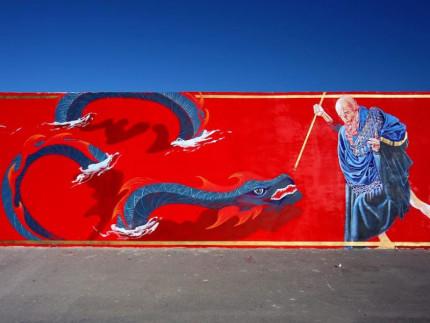 Murales a San Marone, patrono di Civitanova