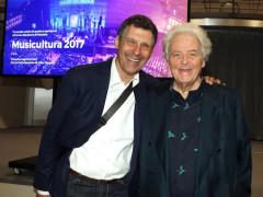 Fabrizio Frizzi e Piero Cesanelli