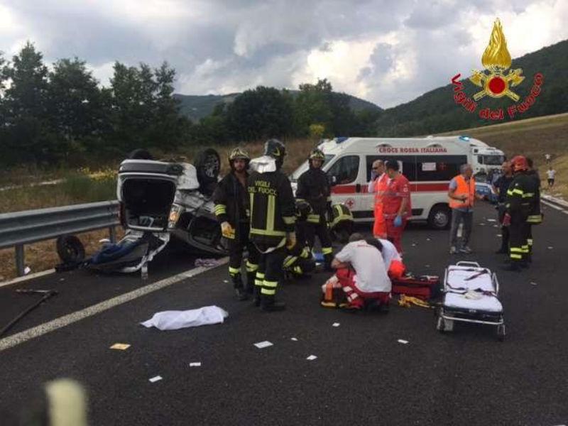 Incidente a Serravalle del Chienti