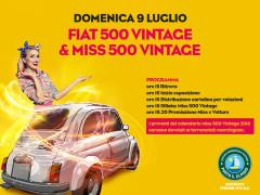 Raduno Fiat 500 e Miss 500 Vintage al Centro Commerciale Auchan Porto Sant'Elpidio