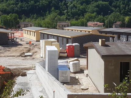 Lavori di urbanizzazione a Pieve Torina dopo il sisma