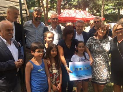 Cerimonia per la nuova scuola di Sarnano