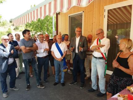 Inaugurazione dei moduli per le attività commerciali a Fiastra