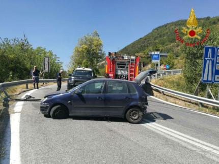 Incidente lungo la ss77 nello svincolo per Caccamo