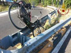 Incidente in bicicletta in via dei Velini a Macerata