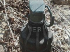 L'ordigno inerte (bomba a mano) ritrovato all'impianto e area ecologica di Fontescodella, a Macerata