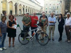 Il ciclotour solidale di Marchitelli è approdato a Fermo