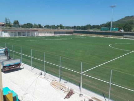 Il nuovo campo sportivo a Villa Potenza