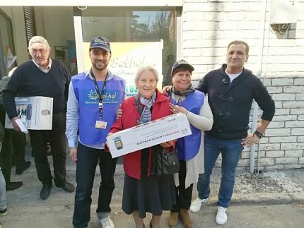Stufe donate agli anziani sfollati di Castelraimondo