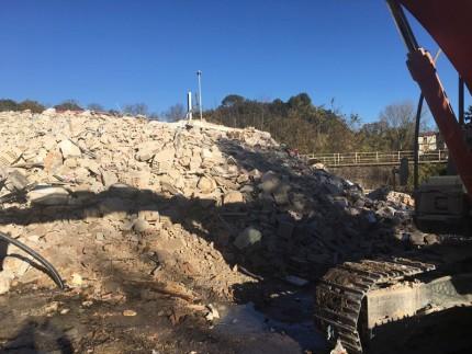 Edificio demolito a San Severino