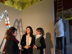 Allestimento di una mostra a Macerata