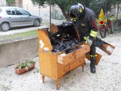 Incendio a Civitanova Marche