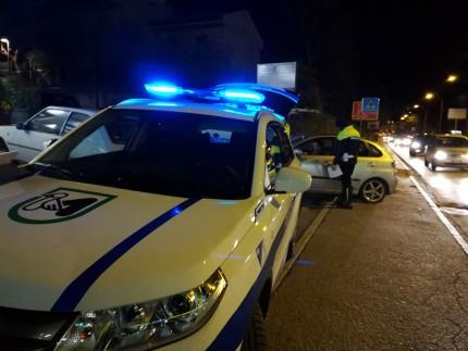 Posto di blocco della Polizia Locale a Tolentino
