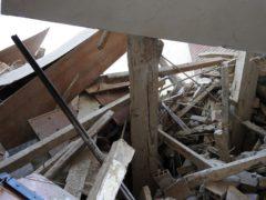 Crollo edificio a Tolentino
